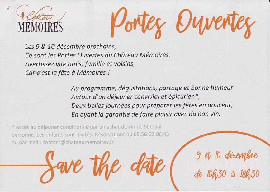 Sortie Club au Château Mémoires le Samedi 11 décembre 2021