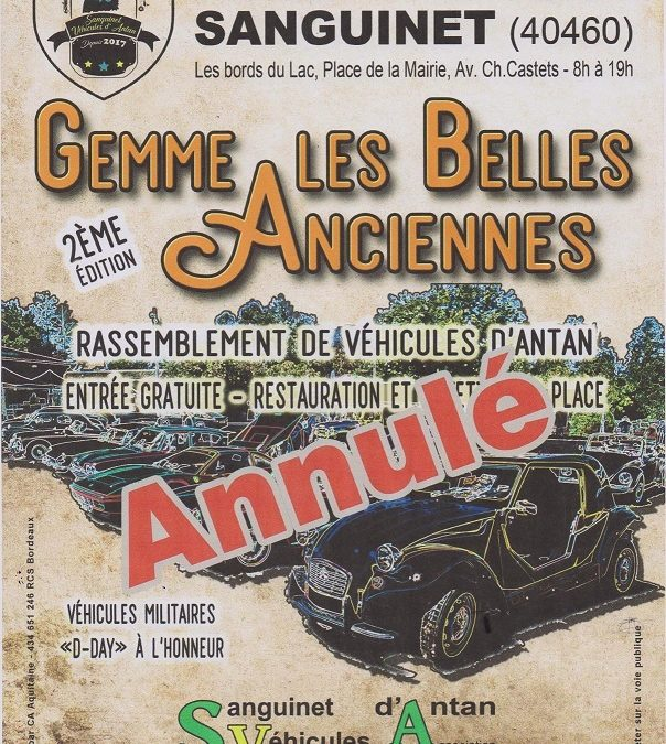 Rassemblement des véhicules d'Antan à Sanguinet (40) le 6 Juin 2020