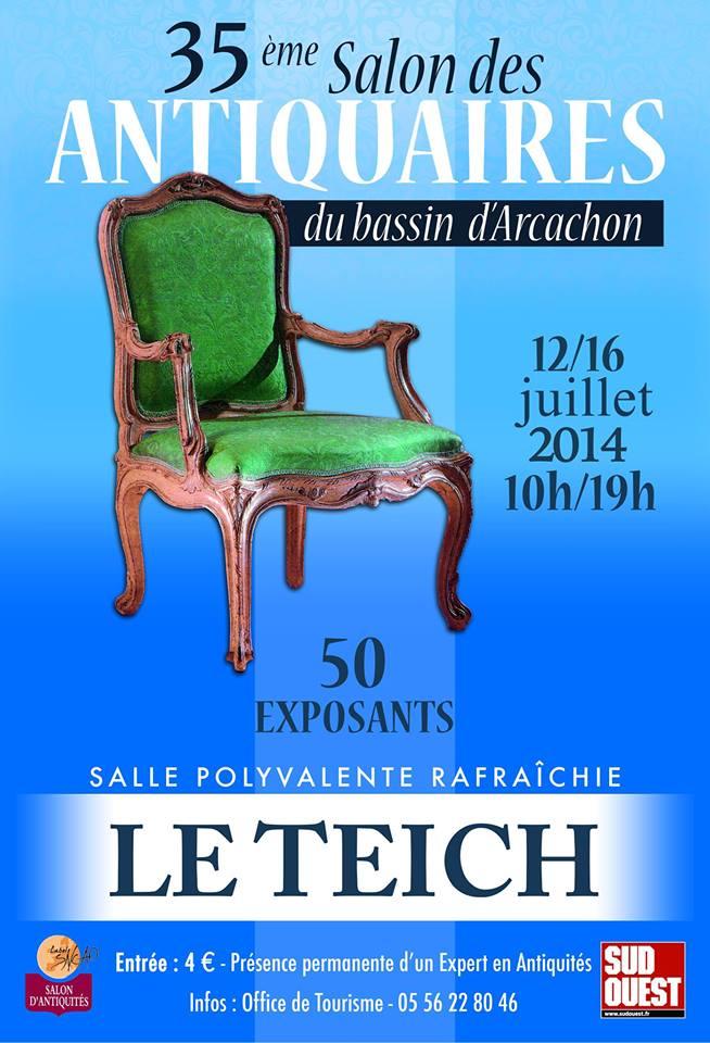 35eme salon des Antiquaires du Bassin d'Arcachon le 14 Juillet